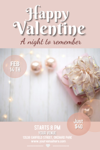 valentine flyer, valentine retail flyer, romantic flyer Poster template