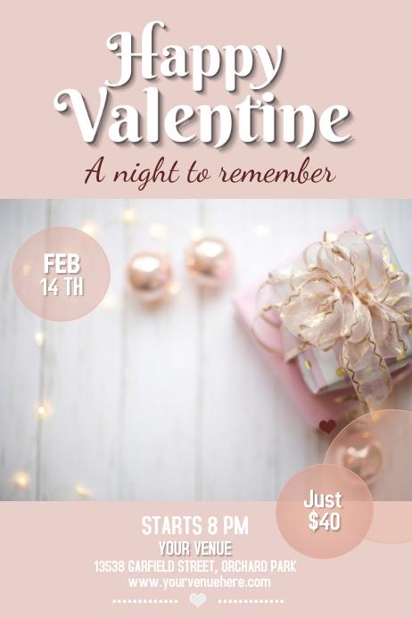 valentine flyer, valentine retail flyer, romantic flyer