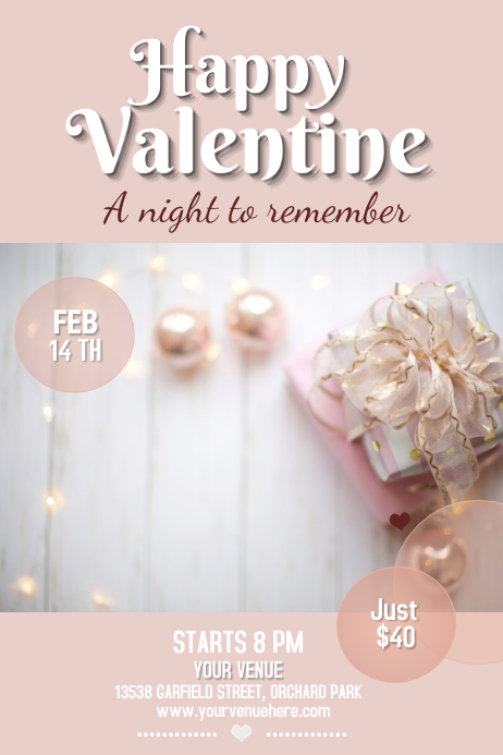 valentine flyer, valentine retail flyer, romantic flyer