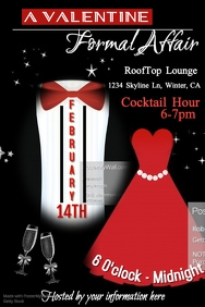 Valentine Formal Affair Poster Template