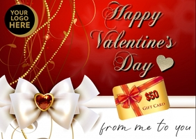Valentine Gift Card Briefkaart template