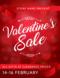 Valentine gift Sale flyer template