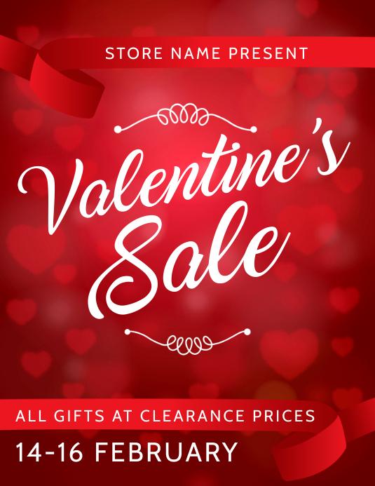 Valentine gift Sale flyer template