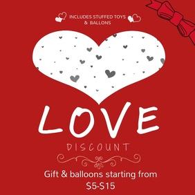 Valentine Instagram Discount Video Template