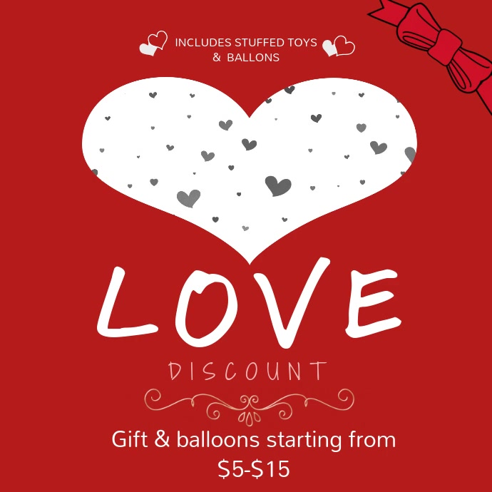Valentine Instagram Discount Video Template