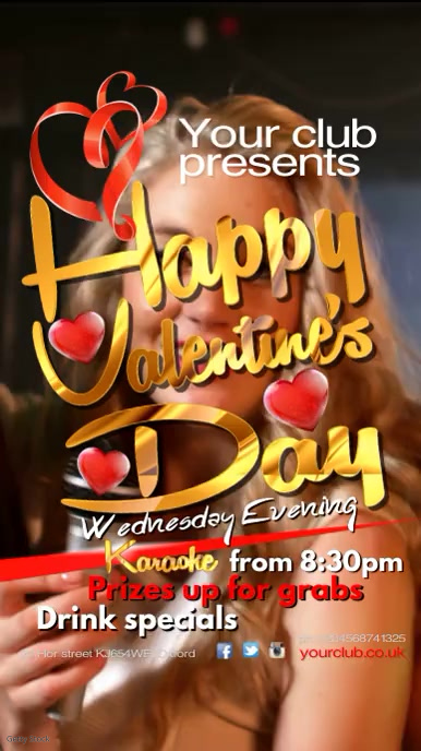 Valentine Karaoke Poster