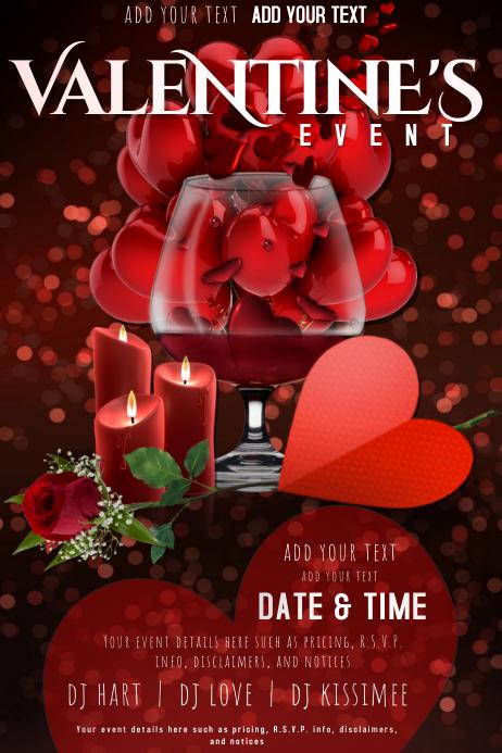 Valentine Love Romance Couple Hearts VDay Dating Balloons