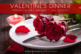 Valentine Love Romance Dinner Hearts VDay Date Brunch Rose