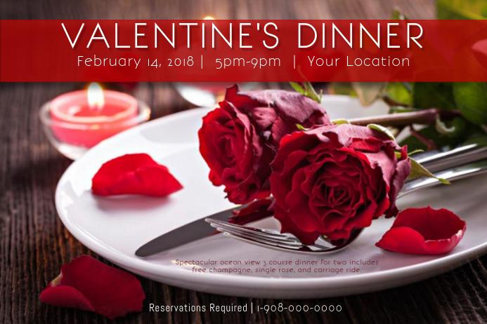 Valentine Love Romance Dinner Hearts VDay Date Brunch Rose