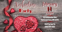 Valentine Party Facebook begivenhed cover template