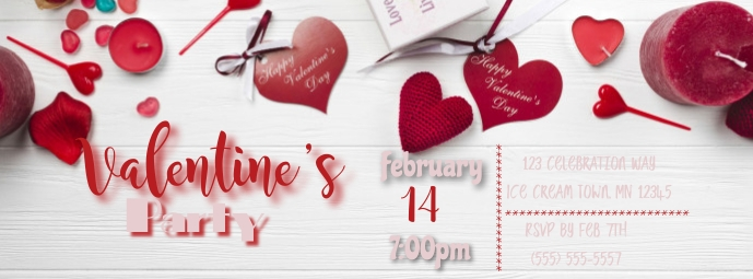 Valentine Party Facebook-coverfoto template