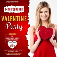 Valentine Party Poster Template Persegi (1:1)