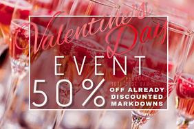 Valentine Pink Champagne Wine Glass V-Day Romantic Bar Night