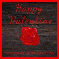 Valentine Post Card Template Logótipo