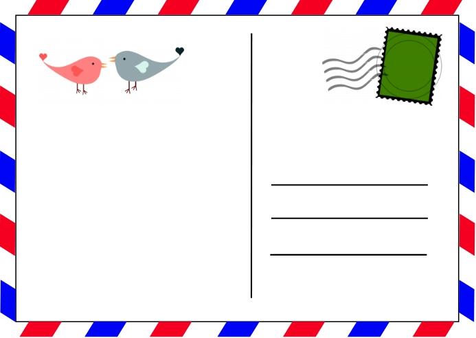 Valentine Postcard ไปรษณียบัตร template