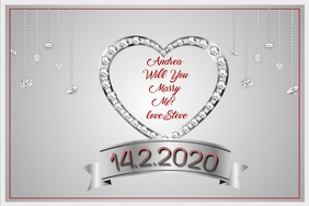 Valentine Proposal Poster template