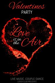 Valentine retail ,event flyers, valentines