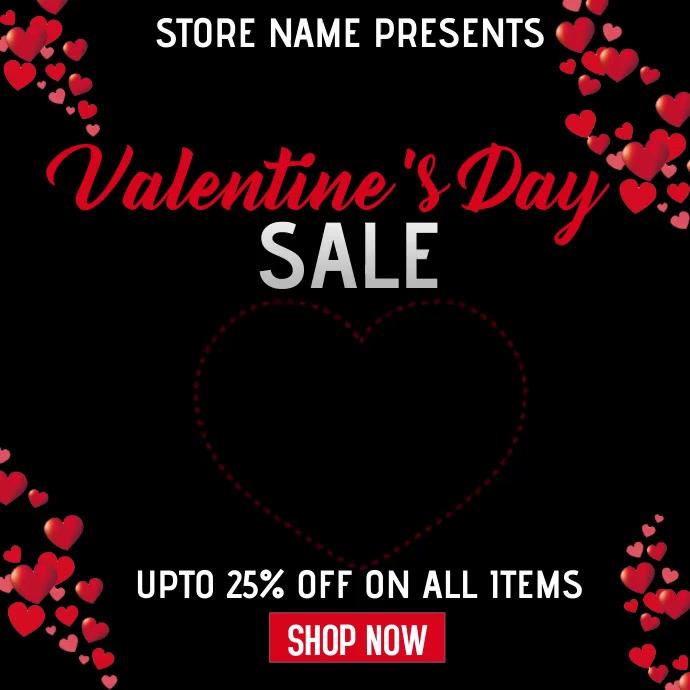 Valentine retail Pos Instagram template