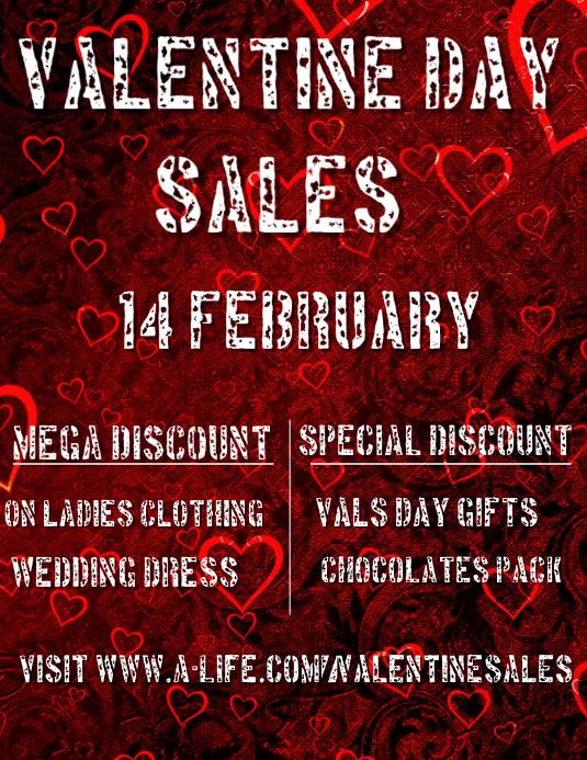 Valentine Retail Flyer Template