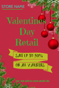 valentine retail poster template,small business flyer