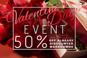 Valentine Retail Promo Romance Couple Love Roses Chocolate