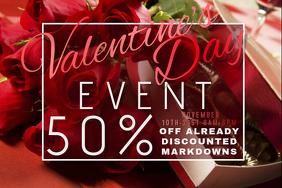 Valentine Retail Promo Romance Couple Love Roses Chocolate