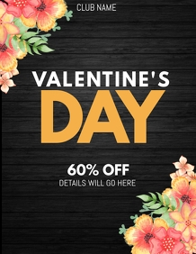 valentine retail poster templates,party flyers,event flyers