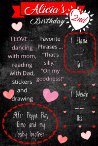 Valentine's Birthday Poster