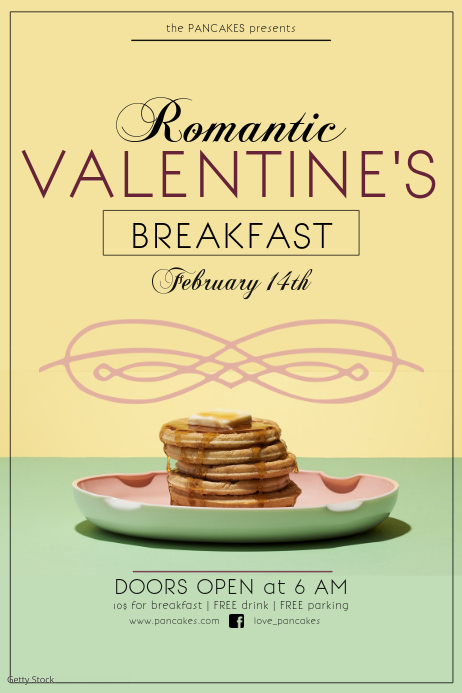 Valentine's breakfast