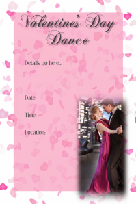 Valentine's Dance Invitation Poster Dance Dinner Reception