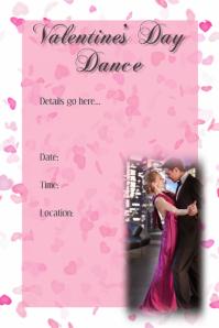 Valentine's Dance Invitation Poster Dance Dinner Reception