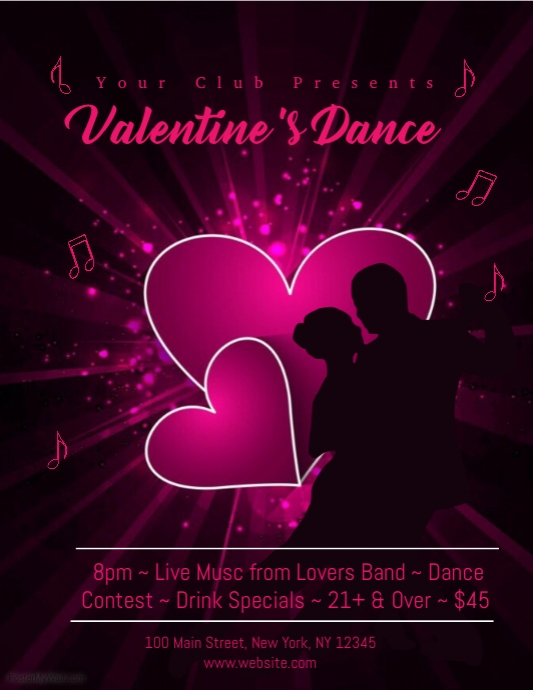 Valentine S Day Dance Template Postermywall
