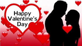 Valentine's Day Facebook Cover Video Facebook-covervideo (16:9) template