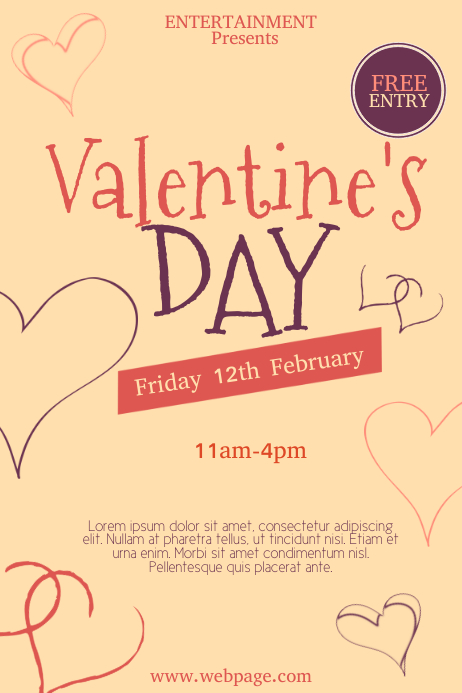 Valentine\'s Day Flyer Template