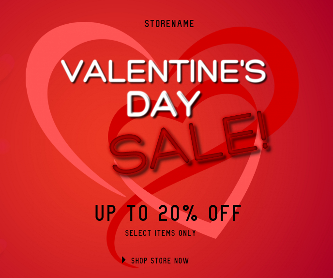 Valentine's Day Malaking Rektangle template
