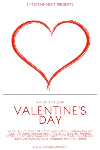 Valentine's Day Free Customisable Poster Template Valentines