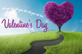 Valentine's Day Love Heart Tree Park Picnic Date Romance