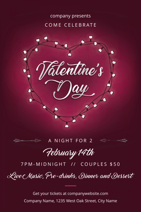 Valentine's Day Night for 2