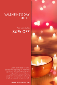 Valentine's Day Offer sale Flyer Template