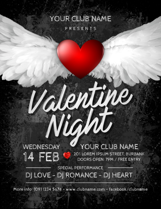 Valentine S Day Party Flyer Template Postermywall