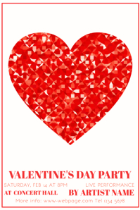 Valentine´s Day Party Poster Template