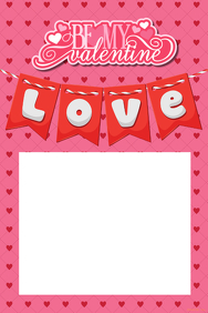 Valentine's Day Party Prop Frame