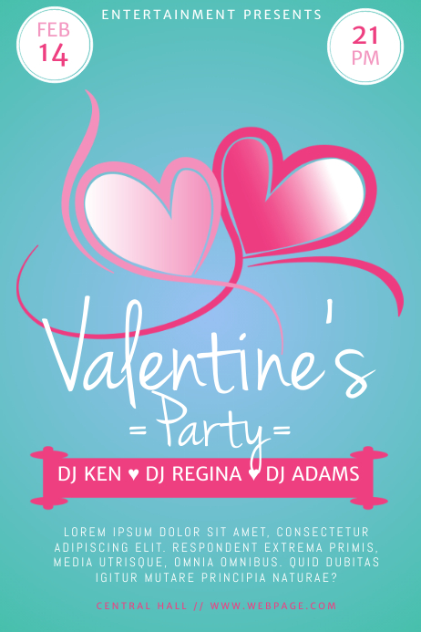 Valentine's Day Flyer Template