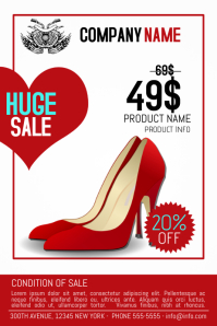 Valentine's Day Product Sale Flyer