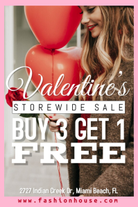 Valentine's Day Retail Sale Template