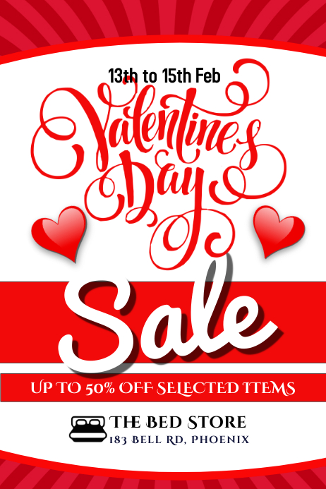 Valentine's Day Retail Sale Flyer Poster Template