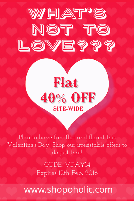Valentine's Day Sale Poster/Flyer Template