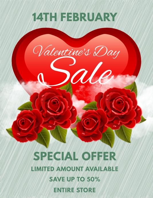 Valentine's Day Sale Flyer