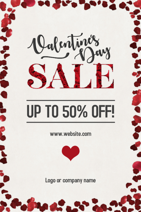 Valentine's Day Sale Poster