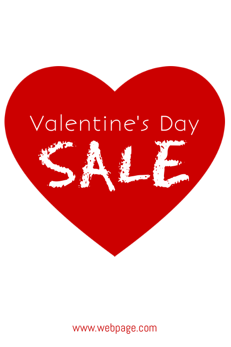 Valentine's Day Sale Flyer Template for Valentine's Day